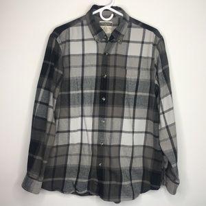 Northcrest Men's Black & White Flannel Large